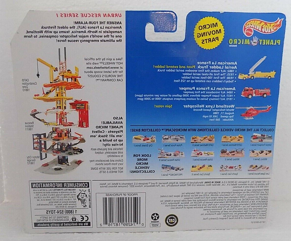 NEW 1997 Planet Rescue/Fire truck Set Ladder/Helicopter