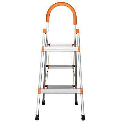 New Step Aluminum Ladder Steel Stool 330Lbs