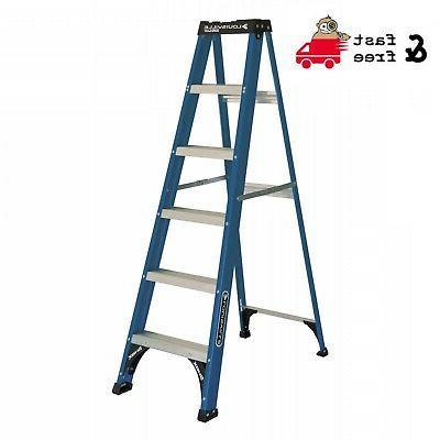 new 6 foot fiberglass step ladder 225