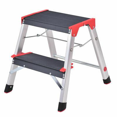 new aluminum ladder 2 step folding platform