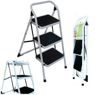 New Non Slip 3 Level Step Stool Folding Ladder Safety Tread