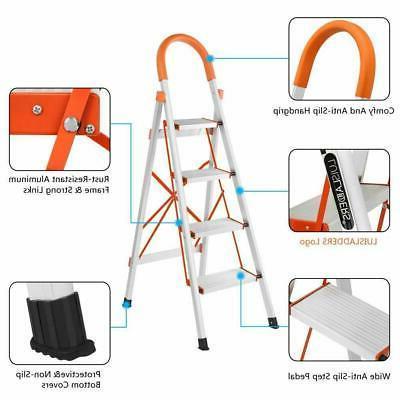 New 4 Aluminum Ladder Stool 330 Capacity