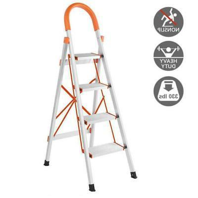 new non slip 4 step aluminum ladder