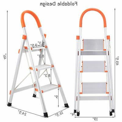 Non-slip 3 Ladder Platform Stool 330 Capacity New