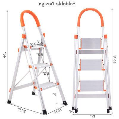 Non-slip 3 Ladder Platform 330 Capacity New
