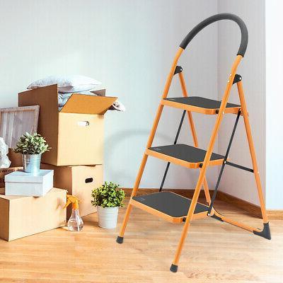 Heavy Step Ladder Folding Steel Step &