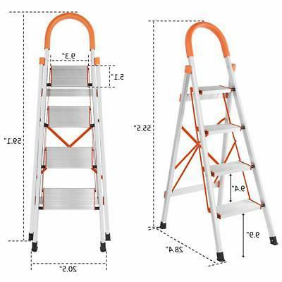 Non-slip Aluminum Ladder Foldable Platform Stool lbs