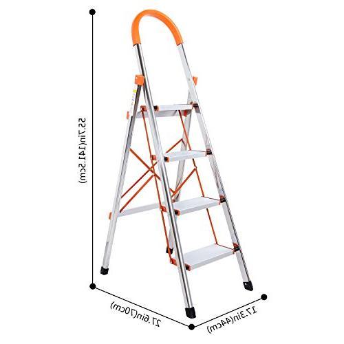 Lifewit 4 Step Stool Ladder Portable Folding Anti Slip