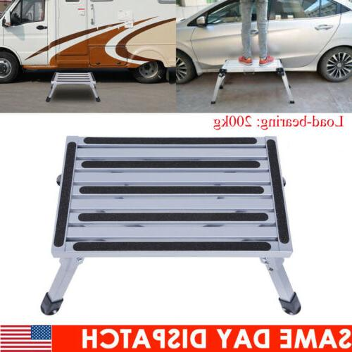 portable folding aluminum safety step stool rv
