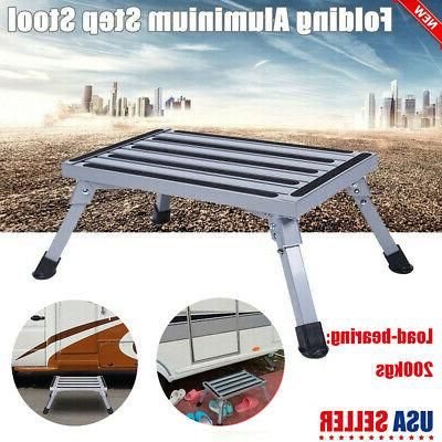 portable folding one step ladder aluminium non