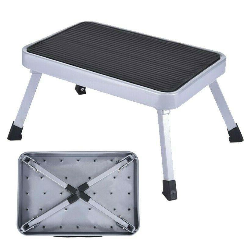 portable folding rv step stool metal ladder