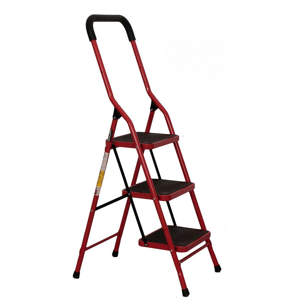 protable 3 step ladder folding non slip