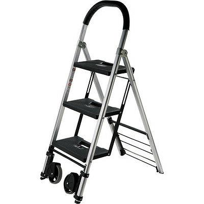 Pearstone PSL3S 3-Step Photographers Ladder With Wheels