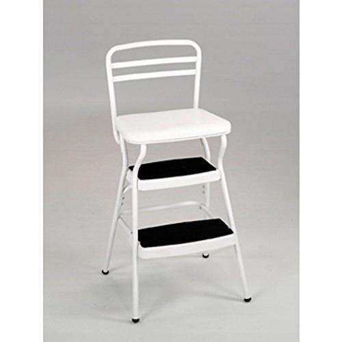 retro stool chair white w