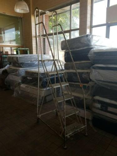 six step warehouse ladder rolling staircase fully