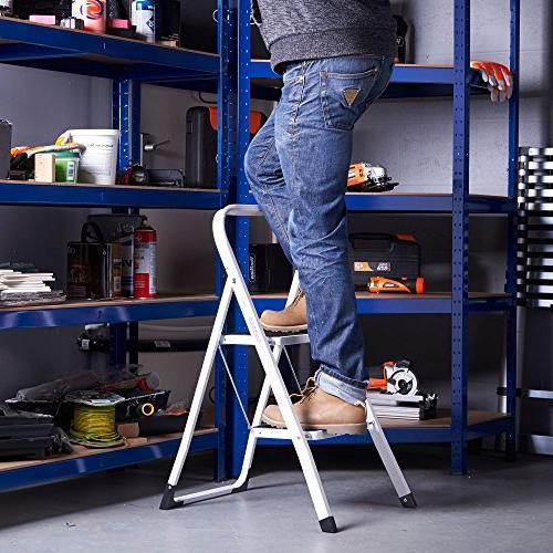 VonHaus Steel Ladder Folding Stool with Lightweight 2