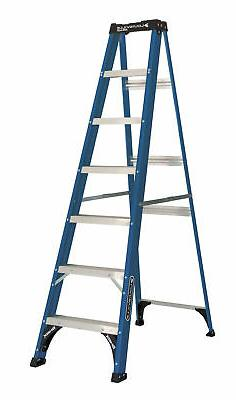 Step Ladder 7-Ft Fiberglass Type 2 Home Utility Building Wor