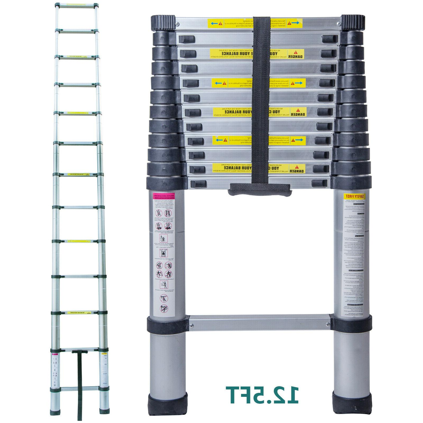 Telescoping Ladder Aluminum Folding Portable Variable Step