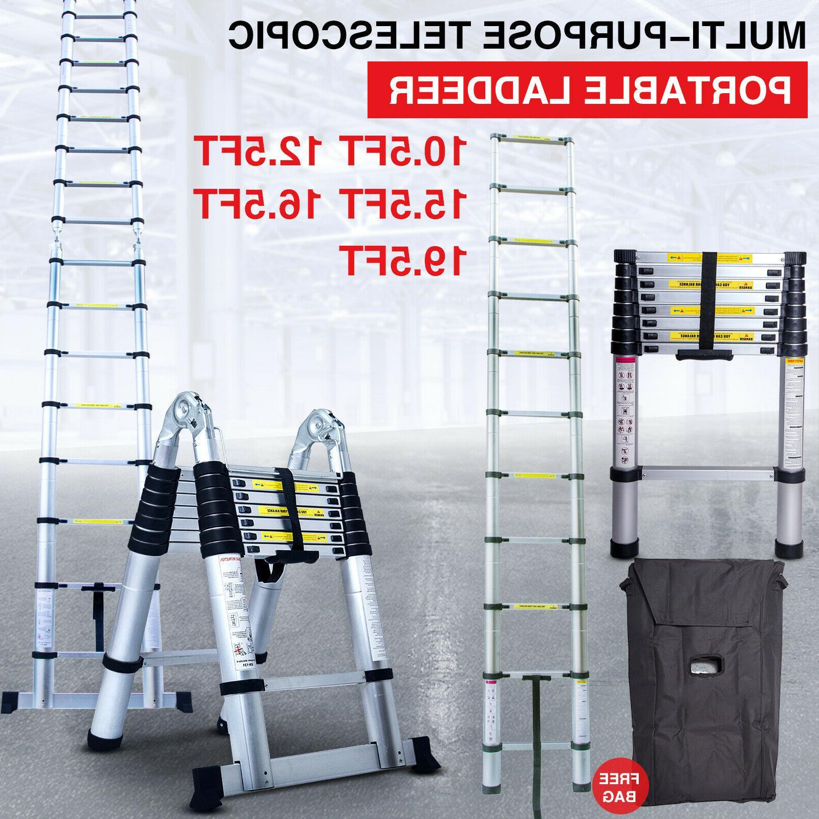 telescoping extension ladder aluminum folding portable all