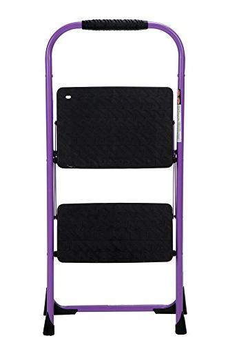 Cosco Step Stool with Rubber Grip, Purple
