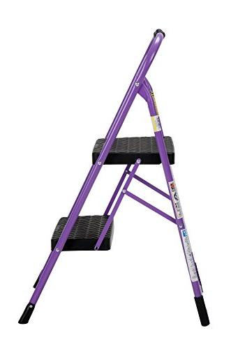 Cosco Two Step Step Folding with Rubber Purple