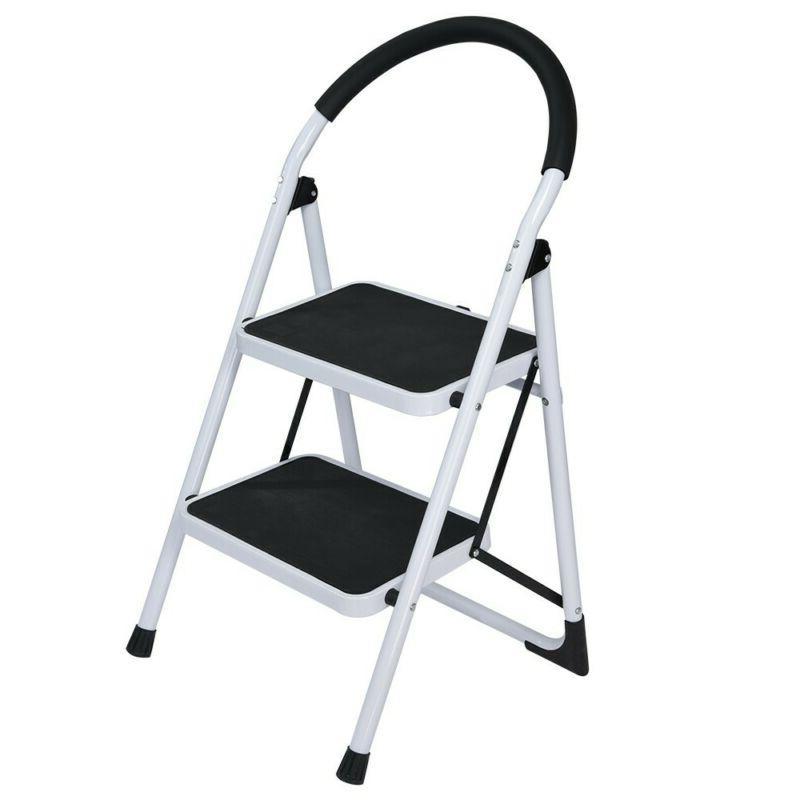 2/3 Step Step Steel Ladder W/ Handle Pedal
