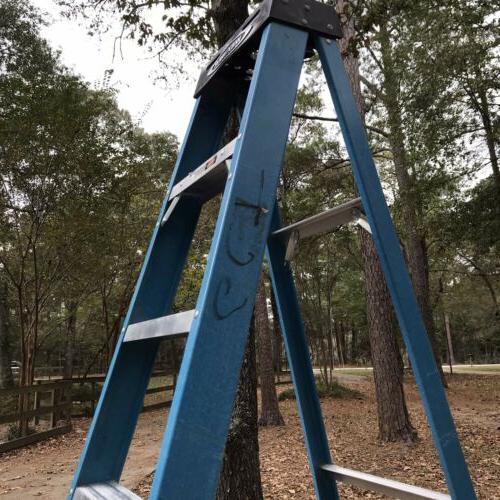 Used Werner 8 Ft Fiberglass Step Ladder