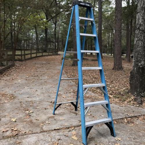 used 8 ft fiberglass step ladder