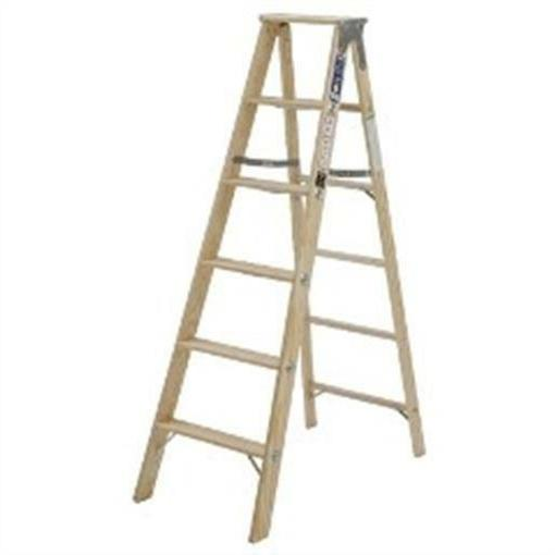 Michigan Ladder 5.08 ft Wood Step Ladder with 250 lb. Load C