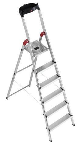 Hailo 8506-001 L60 6-Step Ladder, Siver
