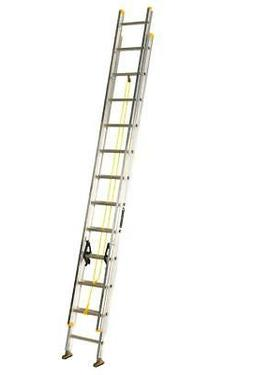 Ladder 250-Pound Duty Rating Aluminum Extension Ladder, 24-F