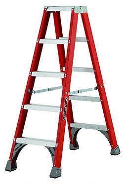 Louisville Ladder FM1505 5 ft Fiberglass Twin Front Step Lad
