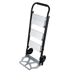 OrangeA Step Ladder Folding Cart Dolly 175LBS Hand Truck wit
