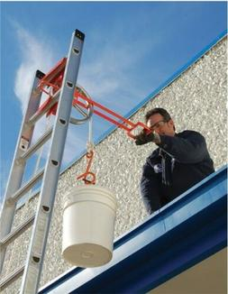 Ladder Hoisting Wheel Lifting Wheel w/Long Handle Roof Zone