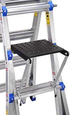 "TOPRUNG 16""x15"" Work Platform for Ladders, Heavy Duty Ladder"