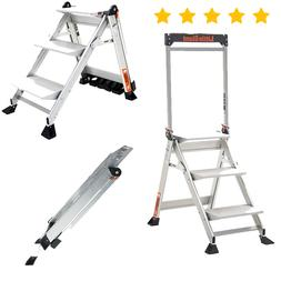 Little Giant Ladders 3-Step 375 lbs. Capacity Adult Foldable