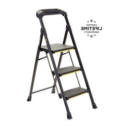 3-Step Pro-Grade Steel Step Stool, 300 lbs. Load Capacity Ty