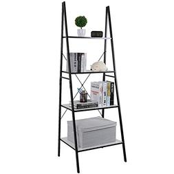 Lifewit Ladder Shelf Bookshelf 4 Tiers Bookcase, Plant Stand