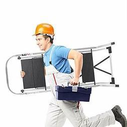 Delxo Lightweight Aluminum 3 Step Ladder Step Stool Single-H