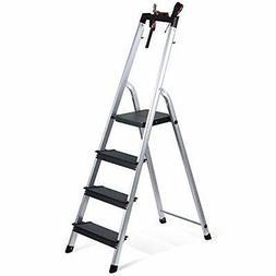 Delxo Lightweight Alumium 4 Step Ladder Folding Step Stool S