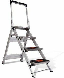 Little Giant Aluminum Ladder System Safety Step 4 Step Bar 2
