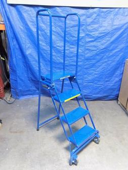 Ballymore Lock-N-Stock Portable Rolling Safety Ladder 4-Step