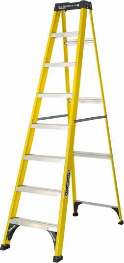 Fiberglass Step Ladder 8-Foot Slip Proof 250-pound Capacity