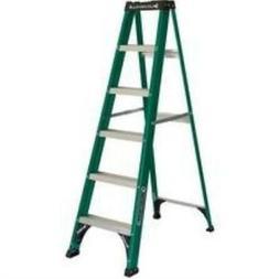 louisville fiberglass standard step ladder 225 lb