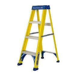 Louisville Ladder FS2004 4 ft. Fiberglass Step Ladder, Type