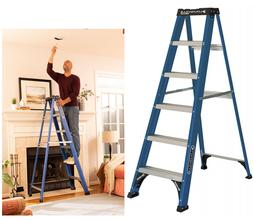 Louisville Step Ladder 6-Ft Fiberglass Slip-resistant 225-Po