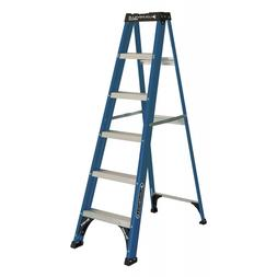 Louisville Ladder 6-Foot Fiberglass Step Ladder, 225-Pound C