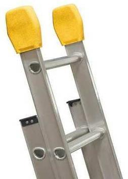 LOUISVILLE LP-5510-00 Ladder End Caps, Aluminum, 375 lb.