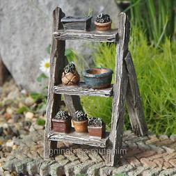 Miniature Fairy Garden Plant Display Ladder