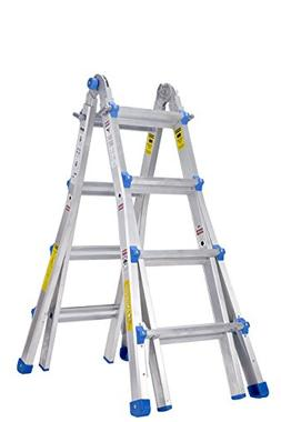 TOPRUNG Model-17 ft. Aluminum Extension Multi-Purpose Ladder
